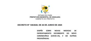 Decreto Municipal Nº 149/2020, de 26 de Junho de 2020