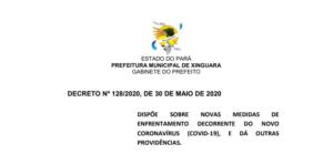 Decreto Municipal Nº 128/2020, de 30 de Maio de 2020